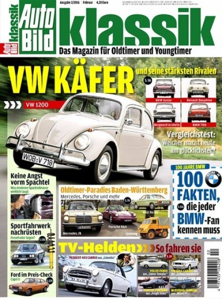 auto bild klassik im abo zeitschriften mit pr mien. Black Bedroom Furniture Sets. Home Design Ideas